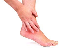 lesão nos nervos dos pés